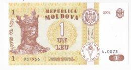 Moldova ,  Moldavie , 1 Leu , 2002 ,  UNC - Moldawien (Moldau)