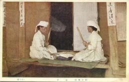 Korea Coree, Native Women Fulling (1920s) Postcard - Korea (Zuid)