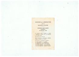 SOUVENIR BENEDICTION De La CLOCHE PAROISSE SAINT - HUBERT à LOVERVAL 24 DECEMBRE 1979 - Santini