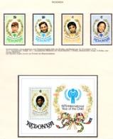 YEAR INTERN. OF CHILD - REDONDA - Mi. Nr. 33/36 + BF 4 - NH - (6532-23.) - Briefmarken