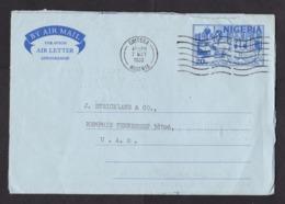 Nigeria: Stationery Aerogramme To USA, 1980, Vaccine, Laboratory, Medicine, Science, Health, Air Letter (minor Damage) - Nigeria (1961-...)