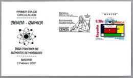 TABLA PERIODICA DE MENDELEIEV - PERIODIC TABLE. SPD/FDC Madrid 2007 - Química