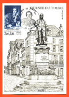 """Carte Maximum Langres Journée Du Timbre 17 Mars 1984 """" Place Diderot """" - Cartas Máxima"""