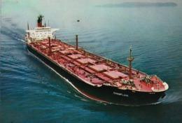 CARTE POSTALE ORIGINALE 10CM/15CM : CHAMPLAIN MINERALIER PETROLIER DE LA COMPAGNIE GENERALE TRANSATLANTIQUE - Tanker
