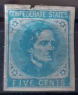 USA / Confederate States - MLH - Sc# 7 - 5c - Small Damage On Upper Edge! - 1861-65 Etats Confédérés