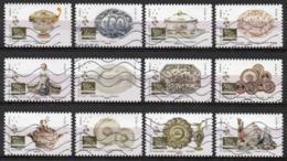 France - Adhésifs N° 1528 à 1539 Oblitérés - Série Complète - Arts De La Table - Porcelaine Et Faience - France