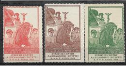 013-EGYPT 1914-3 X VIGNET-XX.ANNIYERSAIRE RETABLISSEMENT-** - Egypt
