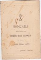 41724 -  Menu Gemmenich  1934 - à L'occasion  De  Première Messe De L' Abbé Hubert Ahn - Menükarten