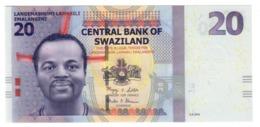Swaziland 20 Emalangeni 06/09/2010 LOW S/N A0000147 UNC .PL. - Swaziland