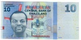 Swaziland 10 Emalangeni 06/09/2010 LOW S/N A0000107 UNC .PL. - Swaziland