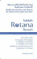 ROTANA Resort SALALAH - Hotel Room Key Card, Hotelkarte, Schlüsselkarte, Clé De L'Hôtel - Hotelkarten