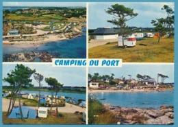 LANDRELLEC PLEUMEUR-BODOU Le Camping Du Port Multivues Peugeot 204 Break Renault Dauphine Autos - Autres Communes