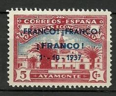 Ayamonte Huelva - Verschlussmarken Bürgerkrieg