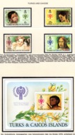YEAR INTERN. OF CHILD - TURKS E CAICOS  - Mi. Nr. 431/434 + BF 15 - NH - (6532-25.) - Turks E Caicos