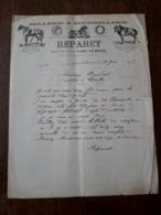 L24/103 Lettre Ancienne. Paray Le Monial. Sellerie Et Bourrellerie. Reparet. 1909 - 1900 – 1949