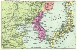 Korea Coree, John Walker Geographical Series No. 873 MAP Postcard (1910s) - Korea (Zuid)