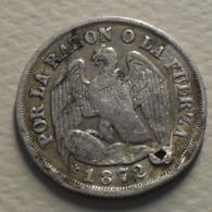 1872 - Chili - Chile - UN DECIMO, Argent, Silver, KM 136.2 - Chili