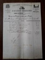 L24/104 Ancienne Facture. Paray Le Monial. Menuiserie - Ebenisterie. Pallot - Tillier. - Old Professions