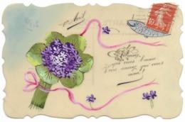 Carte Celluloïd Peinte 1er Avril... - 1er Avril - Poisson D'avril