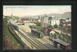 AK Stäfa Am Zürichsee, Bahnhofsplatz Und Bahnhof - ZH Zurich