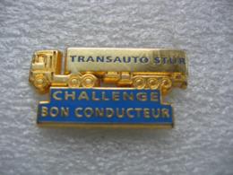 Pin's Challenge Bon Conducteur  Chez Les Transports Transauto STUR. Renault AE Magnum. - Transports