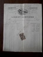 L24/105 Ancienne Facture. Charolles. Linges De Table. Liabot. Serviere . 1887 - 1800 – 1899