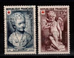 YV 876 & 877 Oblitérés Croix Rouge 1950 Cote 6 Euros - France