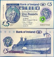 NORTHERN IRELAND 5 POUND BANK OF IRELAND 2017 2019 P NEW POLYMER UNC - 5 Pond
