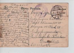 PR7366/ CP PDG-POW Franchise écrite De La Hulpe C.Brüssel 8/1/18 > Paderbon Zivilgefangener Censure Geprüft - WW I