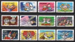 France - Adhésifs N° 1045 à 1056 Oblitérés - Série Complète - Bonne Année - France
