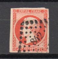 - FRANCE N° 16a Oblitéré Losange PC - 40 C. Orange Vif Napoléon III 1853 - Cote 28 EUR - - 1853-1860 Napoléon III