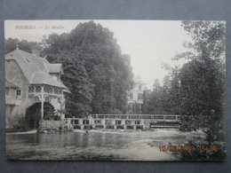 CPA 27 Eure FOURGES Le MOULIN,pêcheur à La Ligne Sur Le Déversoir,toiture Grande échelle Sur La  Maison Derrière 1910 - Fourges