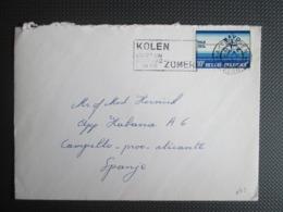 1712 - NAVO/NATO - Alleen Op Brief Naar Spanje - België