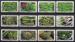 France - Adhésifs N° 739 à 750 Oblitérés - Série Complète - Botanique - Les Légumes - Francia