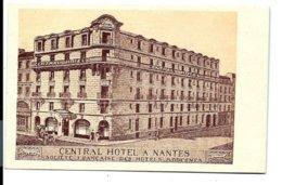 NANTES - Central Hôtel - Allard Hardy éditeur - VENTE DIRECTE X - Nantes