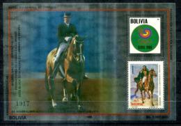 5077 - BOLIVIEN - Metall-Block 160 ** - OLYMPIA / PFERD / DR. REINER KLIMKE / HORSE / OLYMPICS - Bolivien