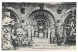 Cpa 76 Rouen - Musée Départemental D'antiquités Jardin Intérieur - Buste De L'abbé Cochet Célèbre Archéologue Normand... - Rouen