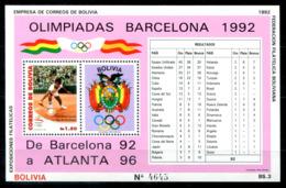 5078 - BOLIVIEN - Block 201 ** - OLYMPIA / TENNIS / OLYMPICS - Bolivien