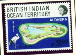 BRITISH INDIAN OCEAN TERRITORY  -  1969 Albabra Atoll 2r25 Unmounted/Never Hinged Mint - Territorio Britannico Dell'Oceano Indiano