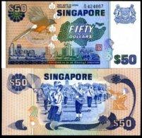 SINGAPORE 50 DOLLARS ND 1976 BIRD SERIE P 13 UNC - Singapore