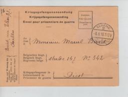 PR7368/ CP Franchise De Port PDG-POW C.Elsene(Ixelles) 8/8/18 > Diest Censure-Geprüft - WW I