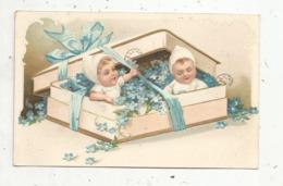 Cp , Gaufrée , Fleurs,bébés ,  Illustrateur , Union Postale Universelle - Fiori
