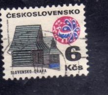 CZECHOSLOVAKIA CESKOSLOVENSKO CECOSLOVACCHIA 1971 1972 COTTAGE ORAVA 6k USED USATO OBLITERE' - Cecoslovacchia