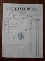 L24/107 Ancienne Facture. Charolles. Brasserie St Maurice - France
