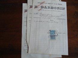 Servon Par Vile Sur Tourbe Barborin Brique A La Main Et Presse Lot 3 Facture Timbre Fiscal - 1900 – 1949