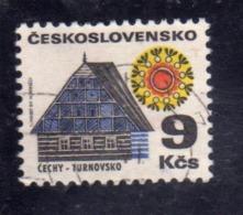 CZECHOSLOVAKIA CESKOSLOVENSKO CECOSLOVACCHIA 1971 1972 COTTAGE TURNOV 9k USED USATO OBLITERE' - Cecoslovacchia