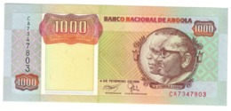 ANGOLA1000KWANZAS1991P129UNC.CV. - Argelia