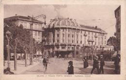 MILANO - Piazza Porta Venezia - Kursaal Diana - F/P - V: 1916 - Animata - Bicicletta - Carretti - Milano
