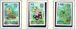BRITISH INDIAN OCEAN TERRITORY  -  1973 Wildlife Set Unmounted/Never Hinged Mint - Britisches Territorium Im Indischen Ozean