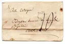 H972  Gard    29 Barjac  Taxe Manuelle 10 Decimes - 1801-1848: Precursors XIX